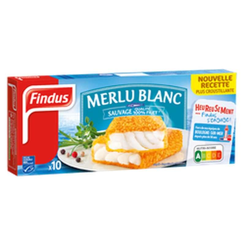 Panés de merlu blanc, Findus (x 10, 510 g)