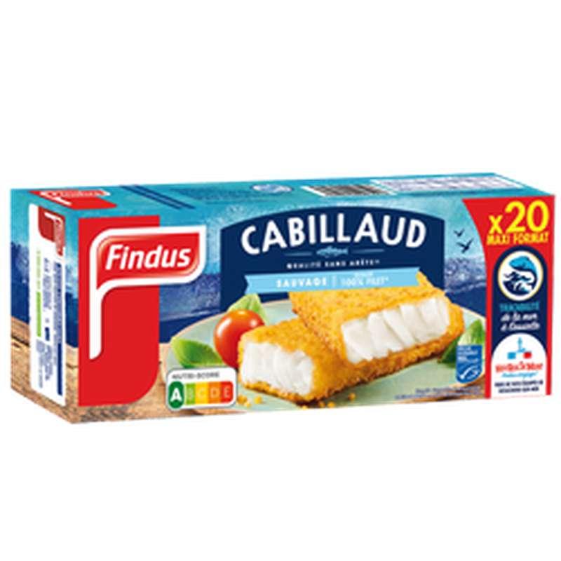 Poisson pané Cabillaud, Findus (x 20, 1,020 kg)