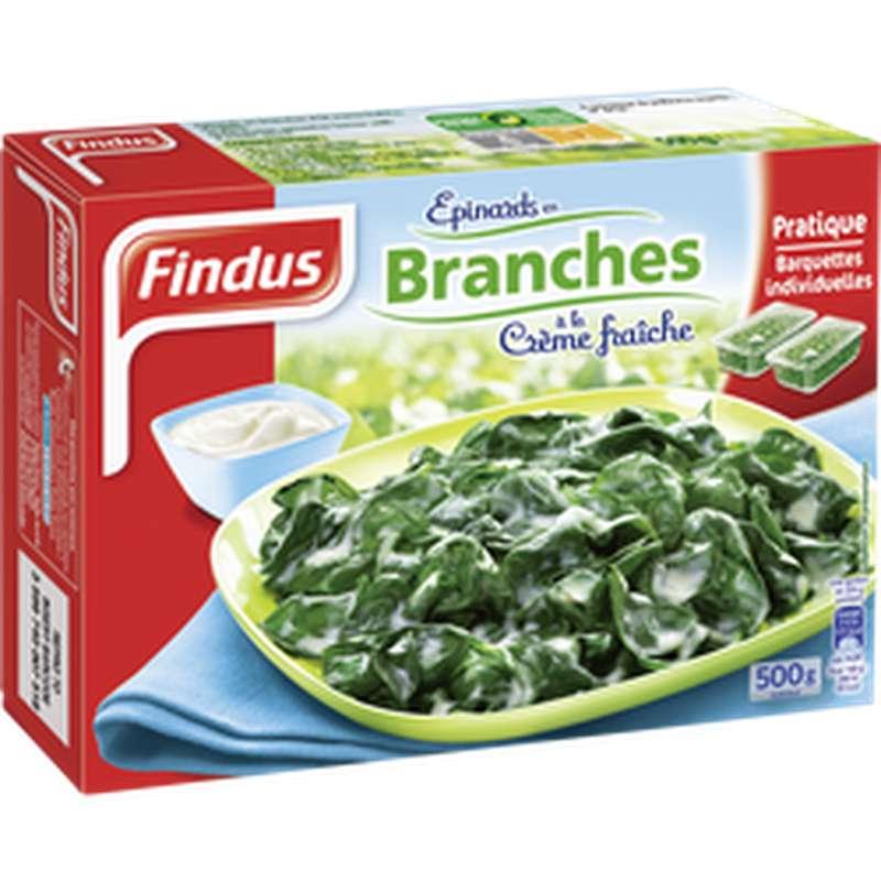 Epinard en branches à la crème fraîche, Findus (500 g)