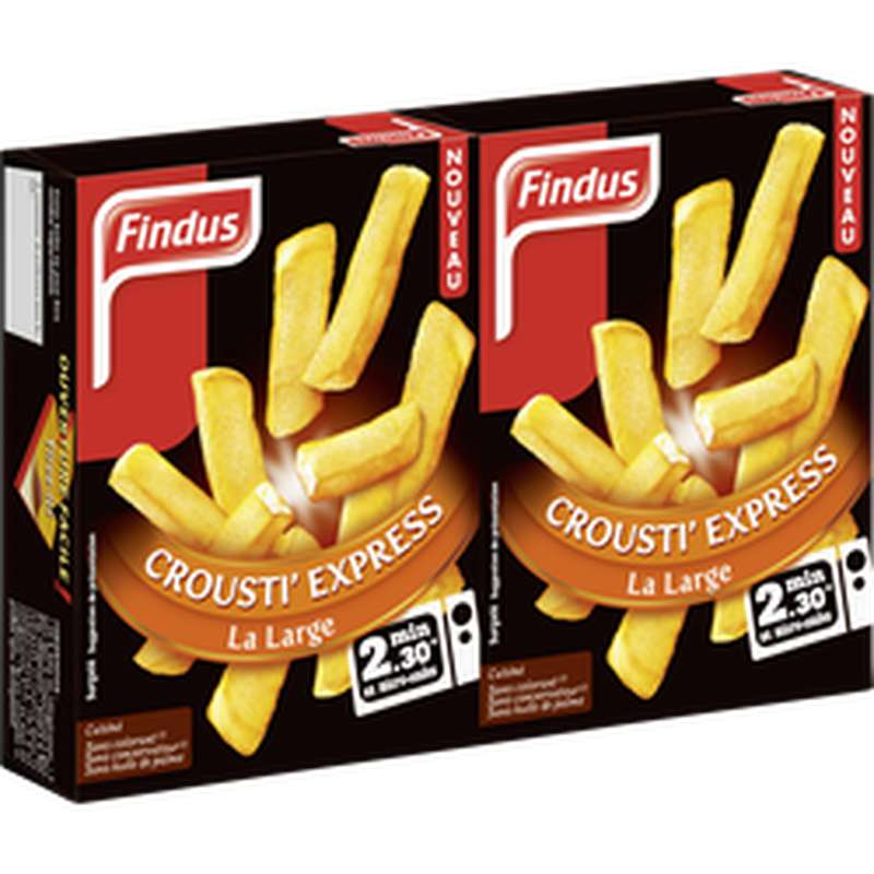 Frites Crousti Express la Large, Findus (180 g)