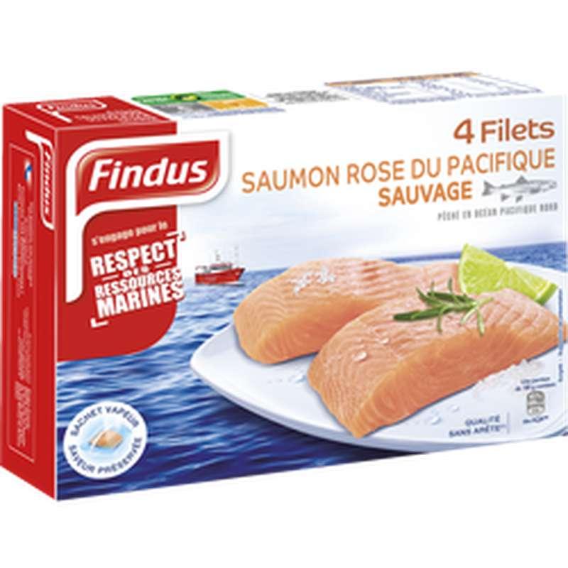 Filets de Saumon rose sauvage du Pacifique, Findus (x 4, 400 g)