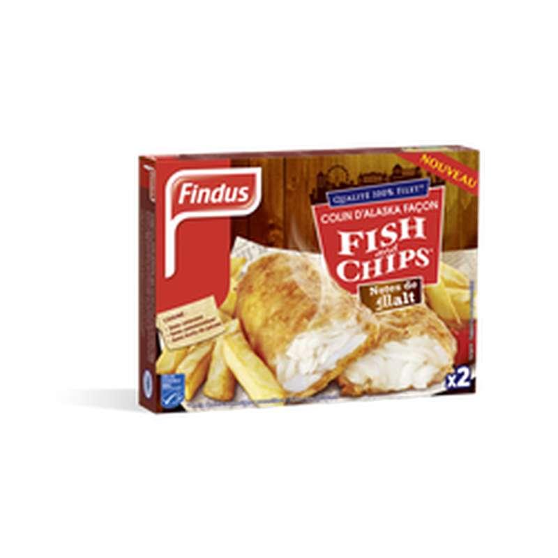 Colin pané façon Fish&Chips Saveur notes de malt, Findus (x 2, 240 g)