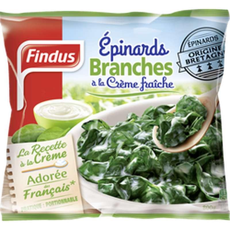 Épinards en branches à la crème fraîche, Findus (800 g)
