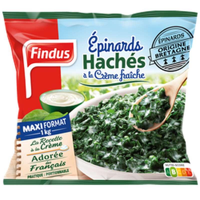 Epinard haché à la crème fraîche, Findus (1kg)
