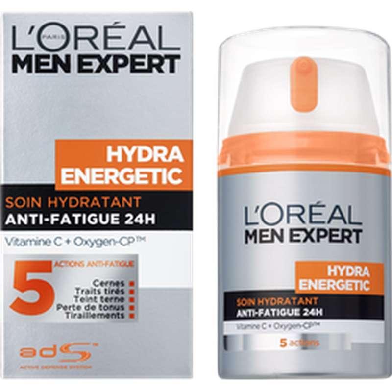 Soin hydratant anti-fatigue pour homme, L'Oréal (50 ml)