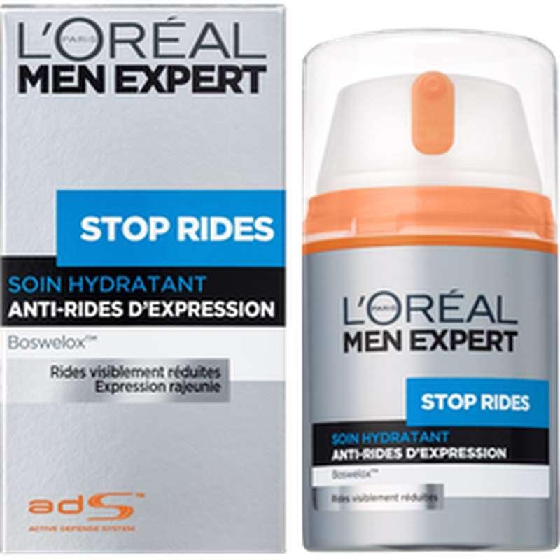 Soin hydratant anti-rides pour homme, L'Oréal (50 ml)