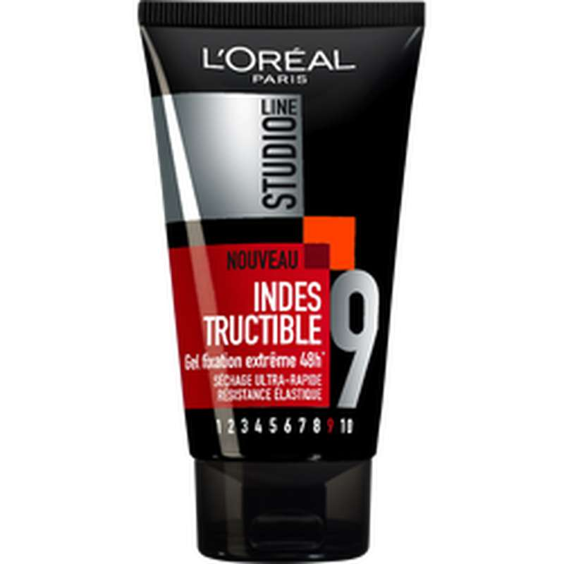 Gel coiffant fixation extrême Indestructible, Studio Line (150 ml)