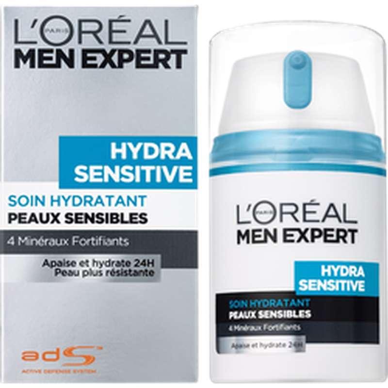 Soin hydratant protecteur Hydratant Sensitive, L'Oréal Men (50 ml)