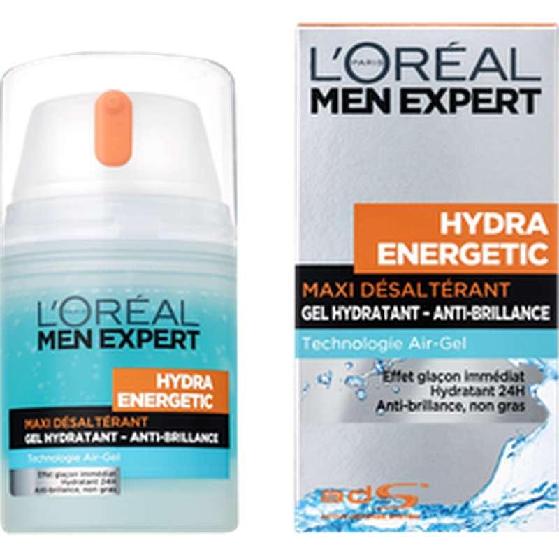 Soin Hydra Energetic maxi désaltérant, L'Oréal Men (50 ml)