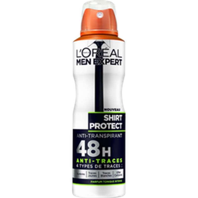 Déodorant pour homme anti-transpirant shirt protect, L'Oréal (200 ml)