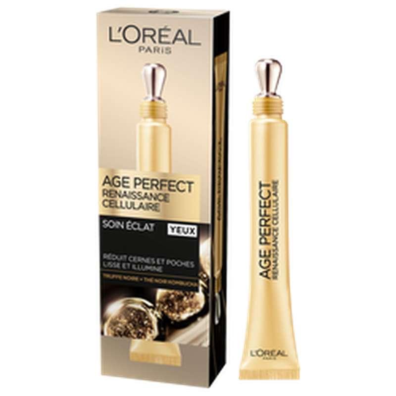 Soin éclat yeux âge perfect renaissance cellulaire, L'Oréal (15 ml)