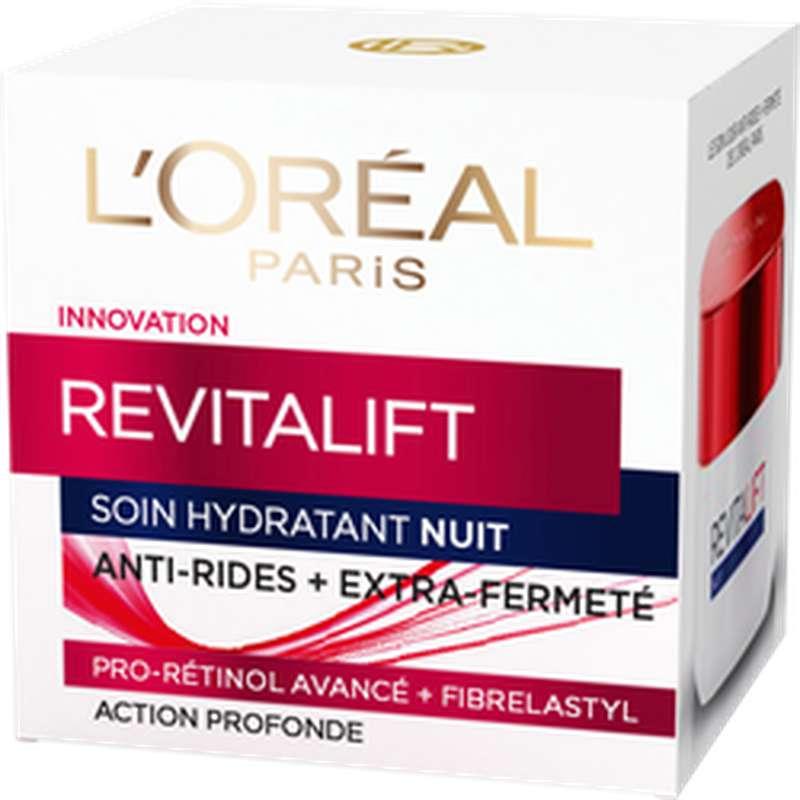 Soin de nuit hydratant pro-rétinol Revitalift, L'Oréal (50 ml)