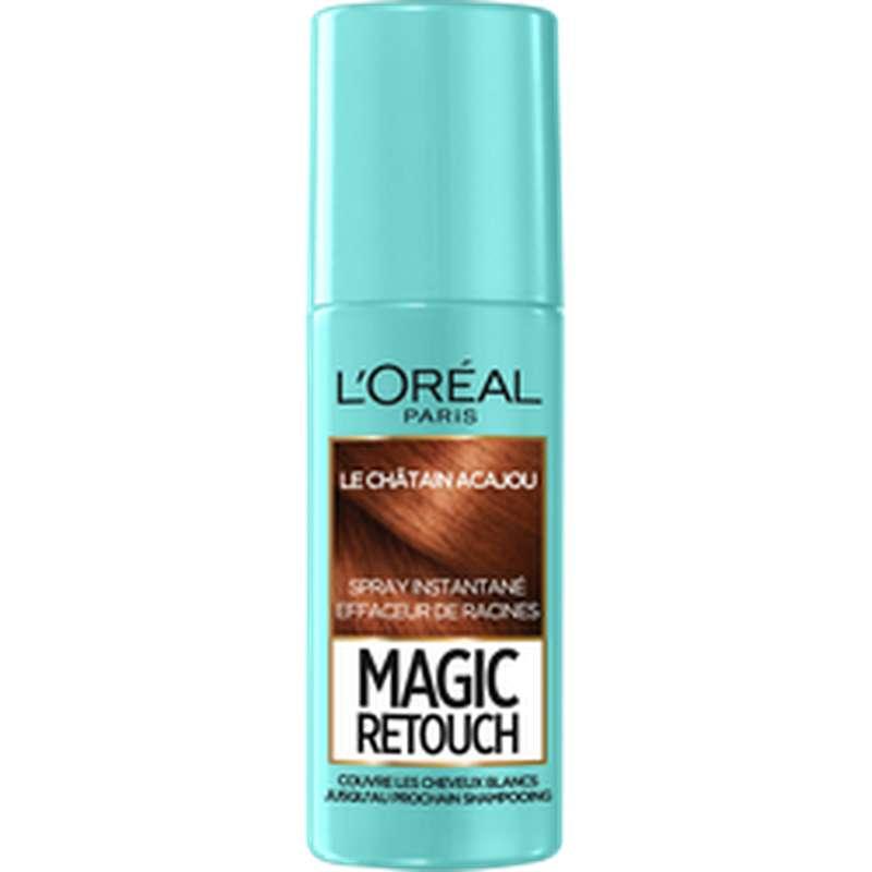 Spray effaceur de racines Magic Retouch - châtain acajou n°6, L'Oréal (75 ml)