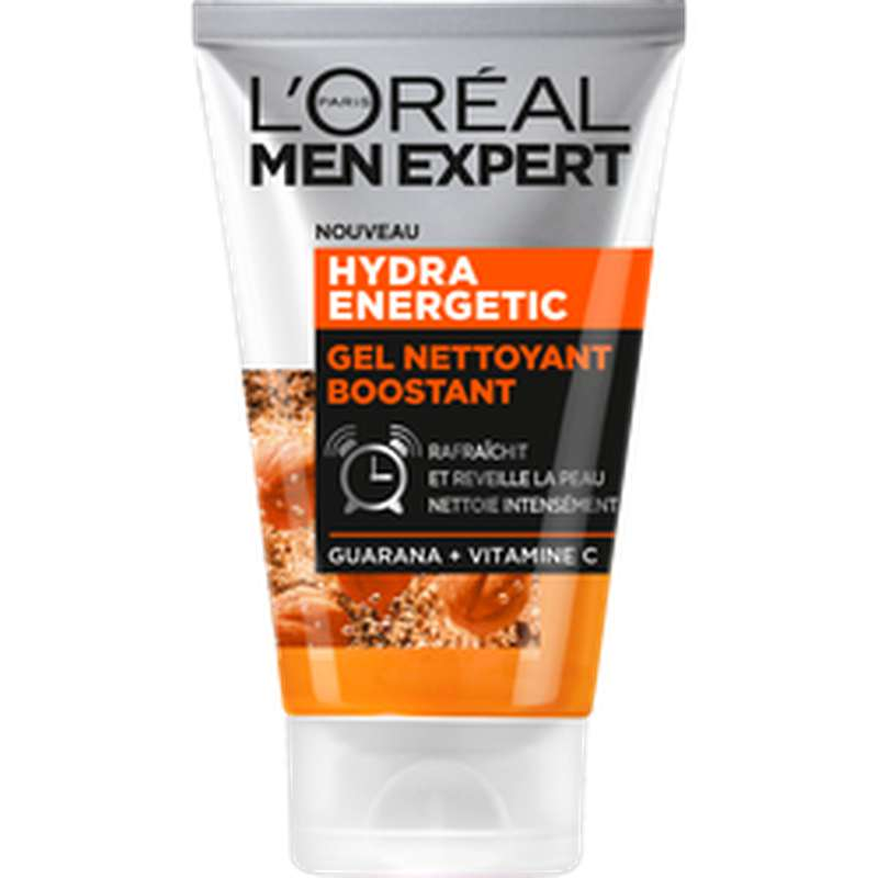 Gel nettoyant boostant visage Hydro Energetic, Men Expert (100 ml)