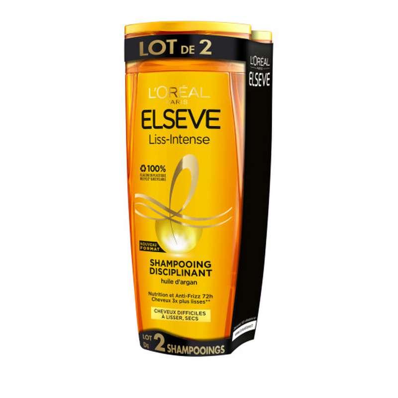 Shampoing liss Intense, Elseve LOT DE 2 (2 x 290 ml)