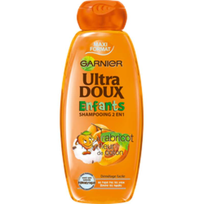 Shampoing abricot enfant, Ultra Doux (400 ml)