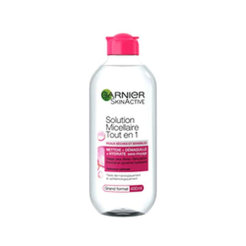Solution micellaire tout en 1 peaux sèches et sensibles, Garnier (400 ml)