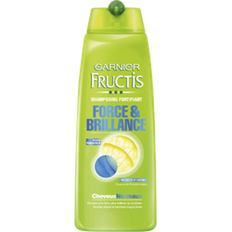 Shampoing force et brilance cheveux normaux, Fructis (250 ml)