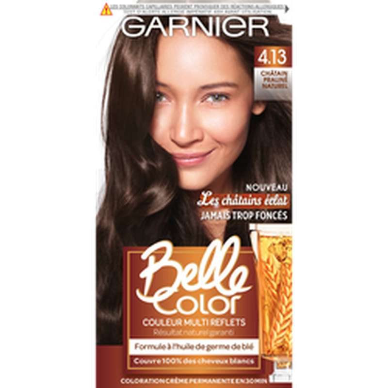 Coloration permanente Belle Color Châtain Naturel 4.13, Garnier