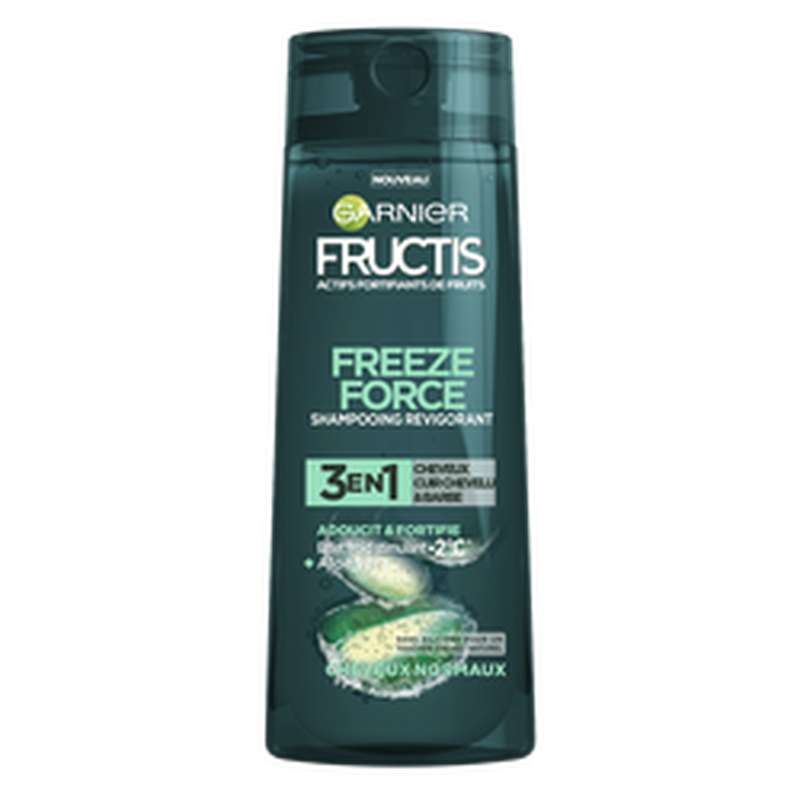 Shampoing homme freezer force 3 en 1, Fructis (250 ml)