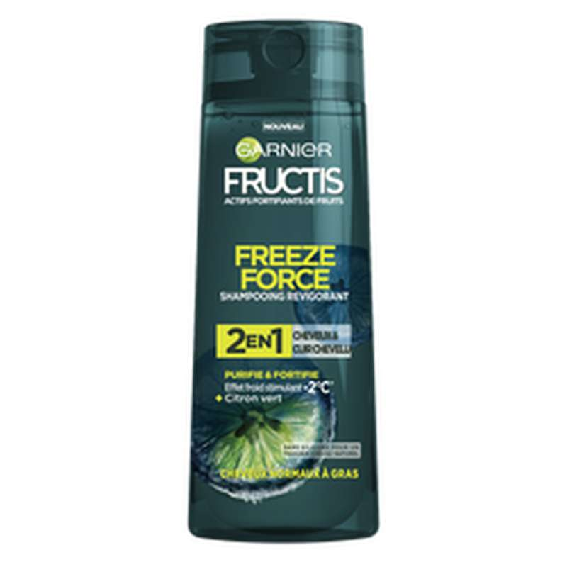 Shampoing homme freezer force 2 en 1, Fructis (250 ml)