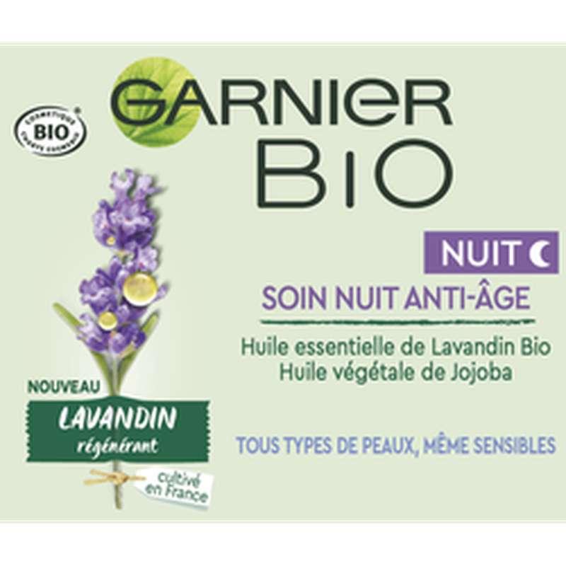 Soin de nuit anti-âge à l'huile essentielle de Lavandin BIO, Garnier (50 ml)