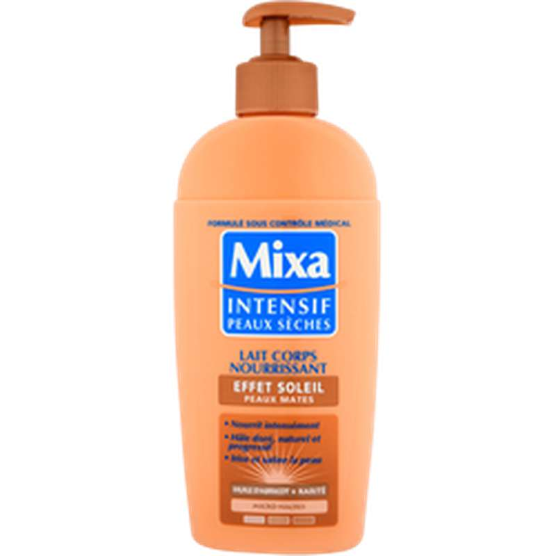 Lait pour le corps effet soleil peaux normales à mates, Mixa (250 ml)