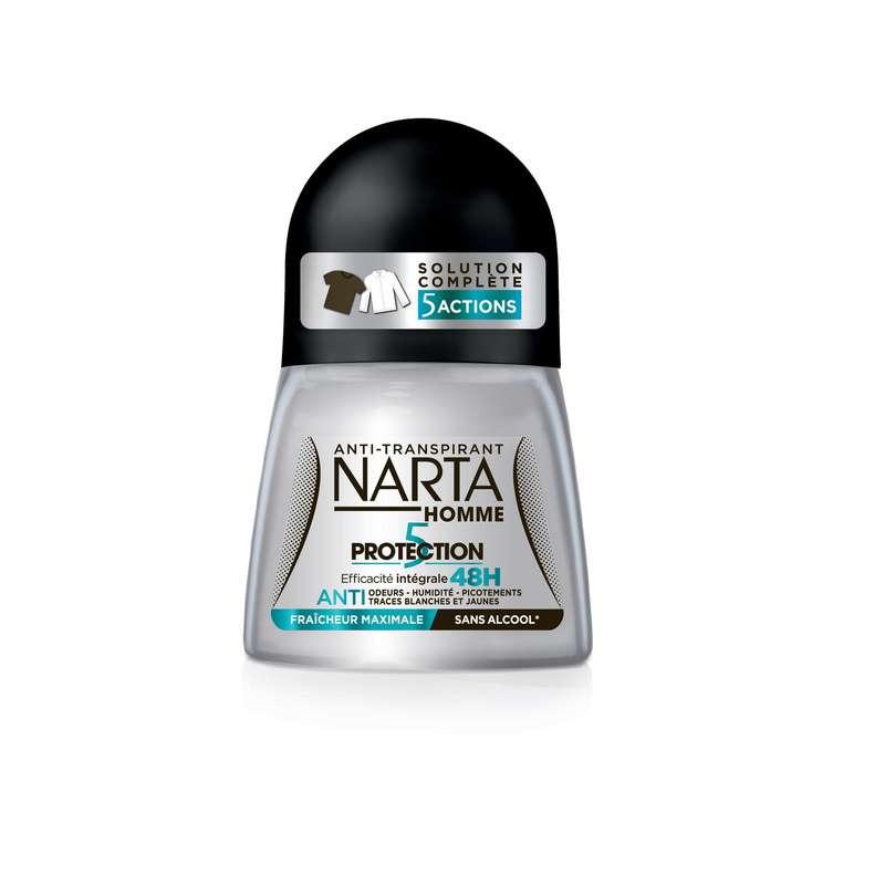 Déodorant homme protection 5 fraîcheur, Narta (50 ml)