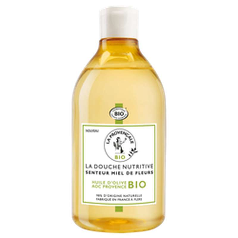 Gel douche nutritif miel de fleurs BIO, La Provencale (500 ml)