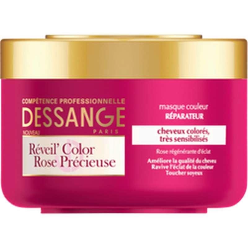 Masque réveil color rose précieuse, Dessange (250 ml)
