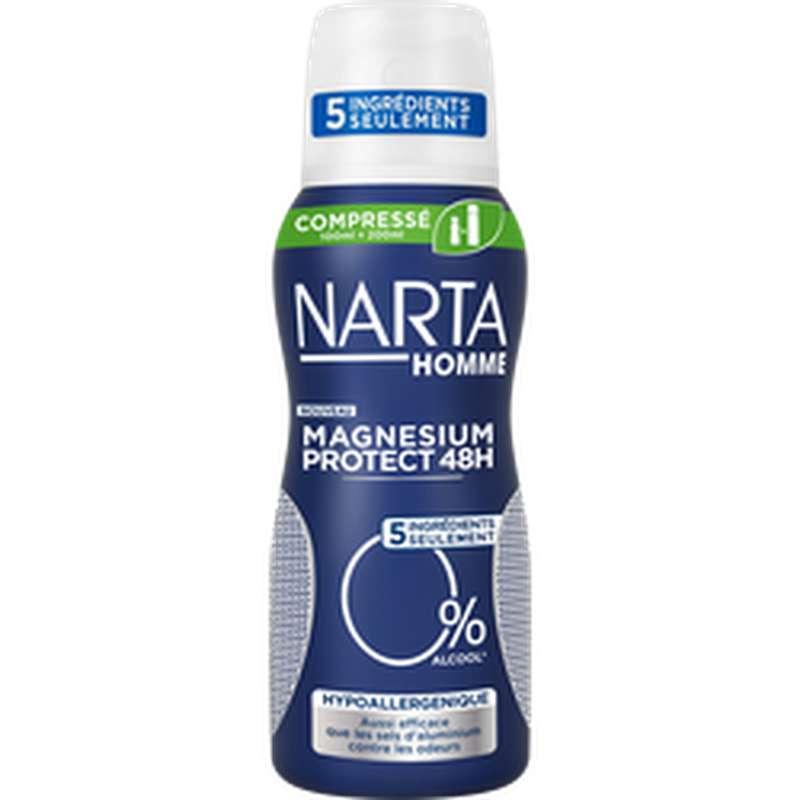Déodorant pour homme compressé magnésium protect 48h, Narta (100 ml)