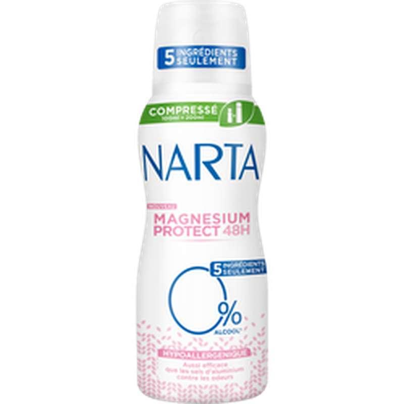 Déodorant compressé magnésium protect 48h, Narta (100 ml)