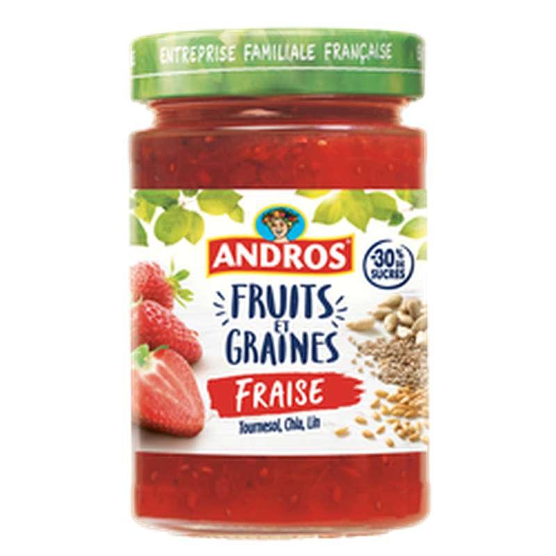 Confiture de fraises et graines, Andros (320 g)
