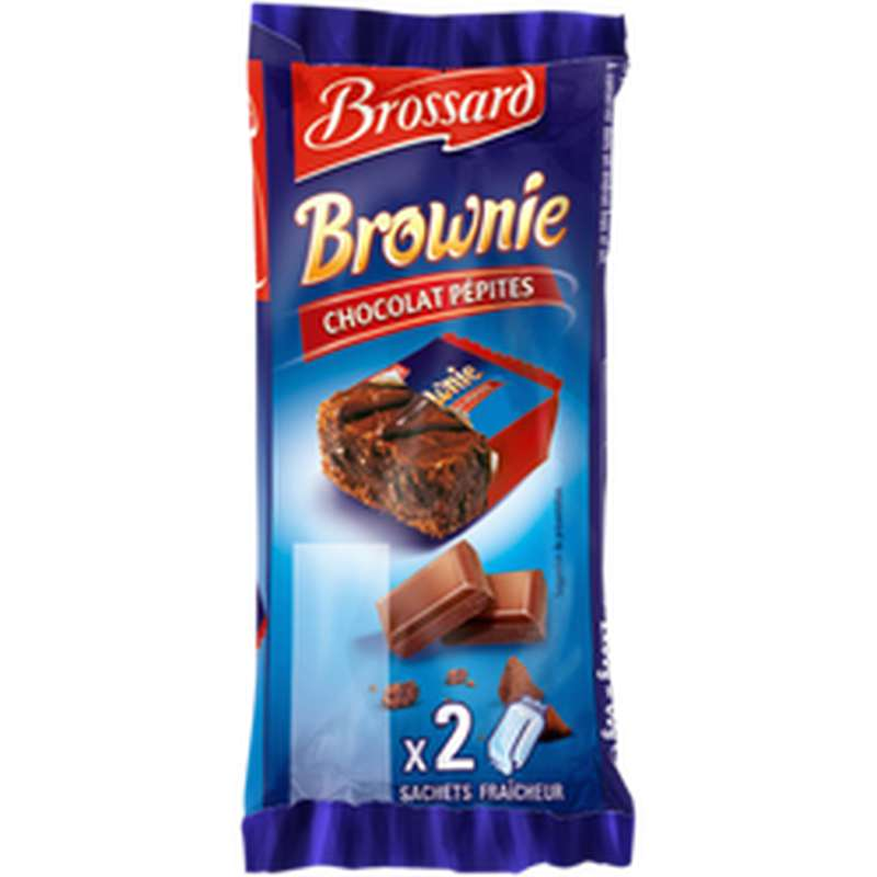 Mini-brownie chocolat pépites, Brossard (2 x 30 g)