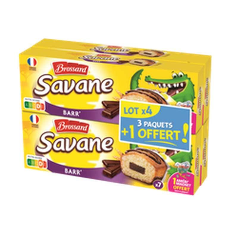 Savane Choco Barr', Brossard LOT DE 4 (3 x 189 g + 1 paquet offert)