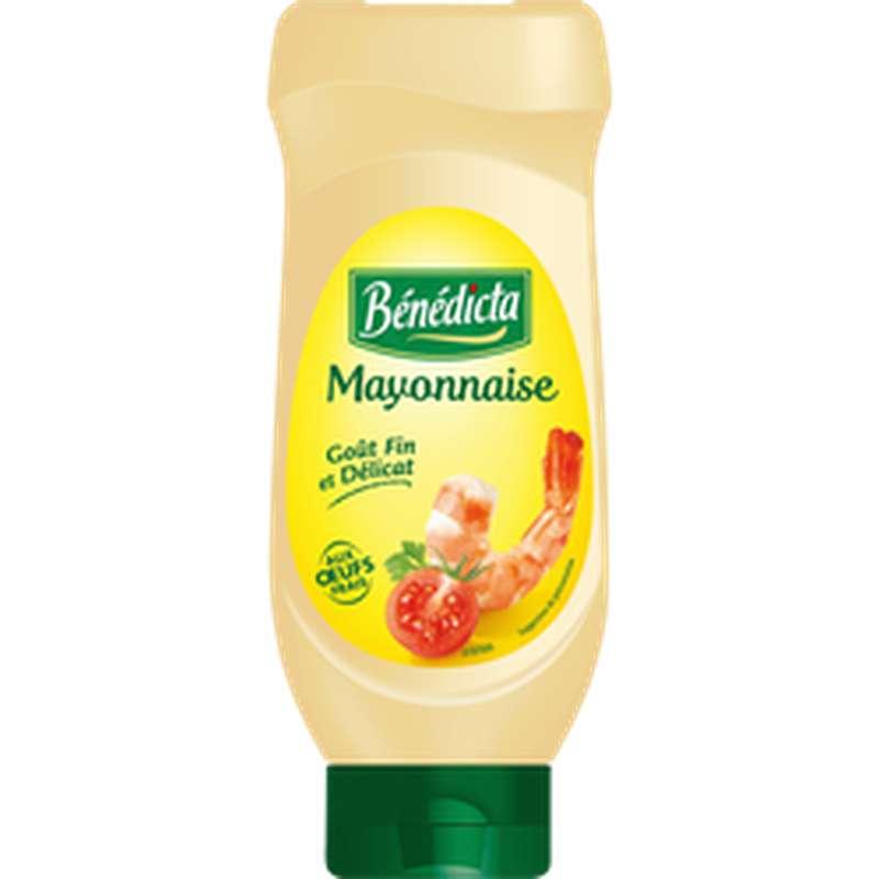 Mayonnaise flacon Top Down, Bénédicta (585 g)