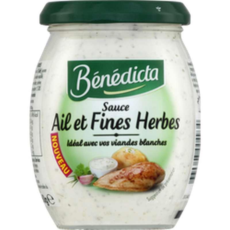 Sauce ail et fines herbes, Bénédicta (260 g)