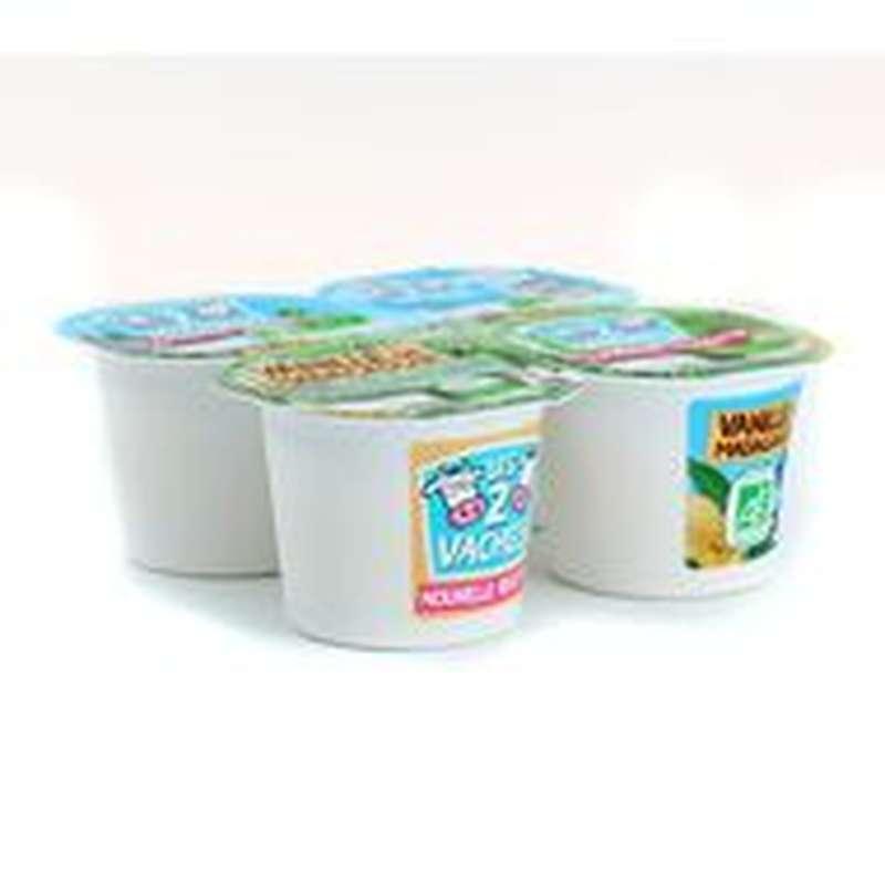 Yaourt vanille BIO, Les 2 vaches (4 x 115 g)