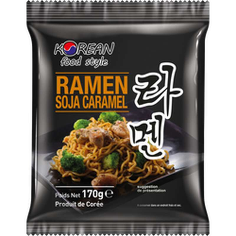Nouilles ramen soja caramel, Korean food style (170 g)