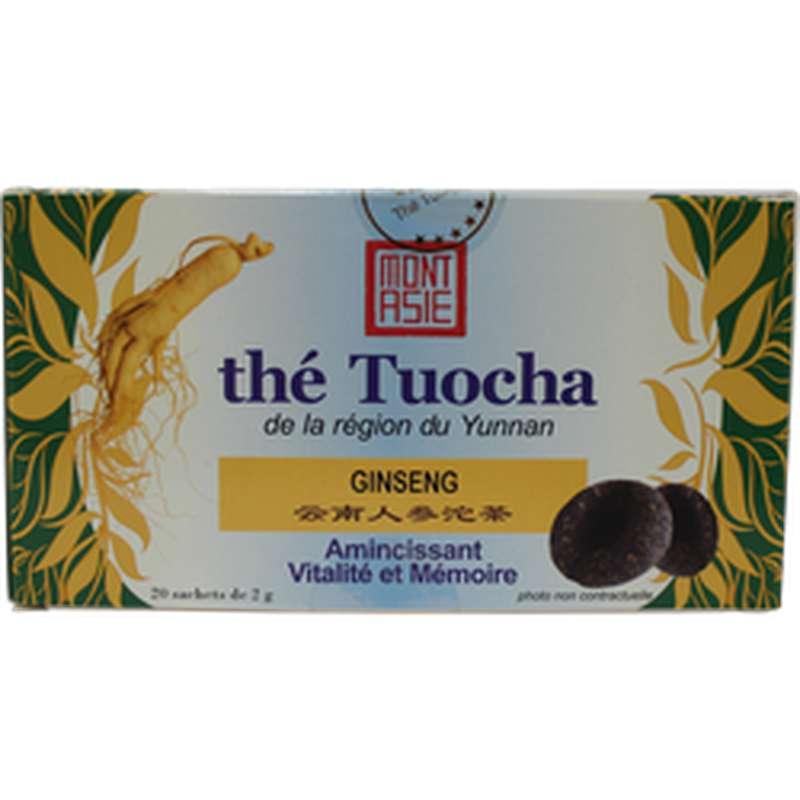 Thé Tuocha au ginseng, Mont Asie (x 20, 40 g)