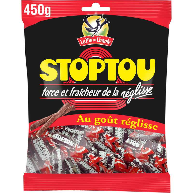 Bonbons réglisse Stoptou, La Pie qui chante (450 g)