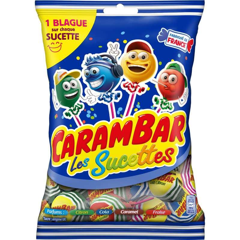 Bonbons sucettes family, Carambar (156 g)