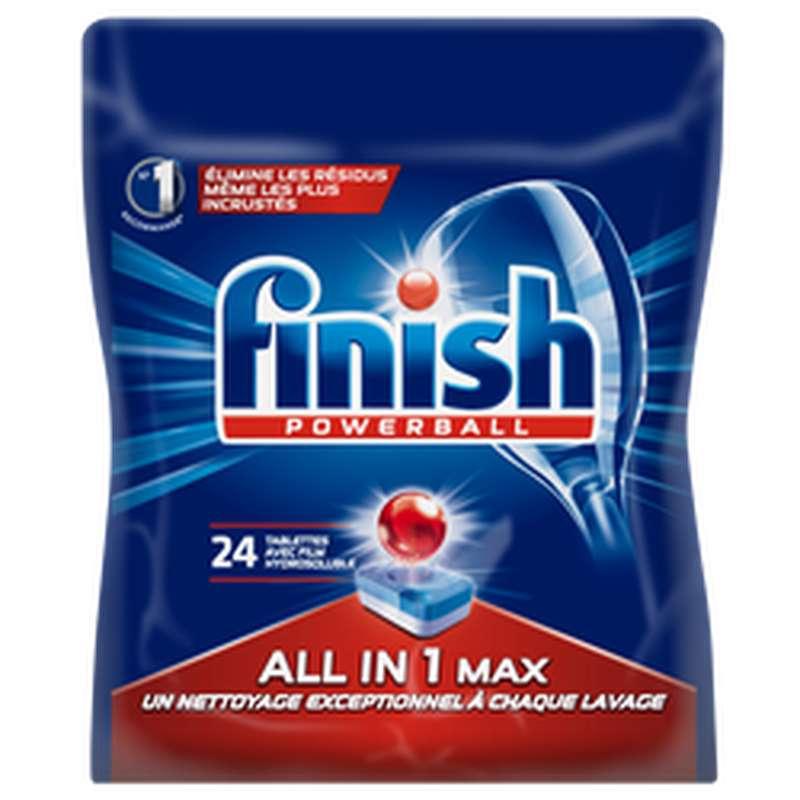 Nettoyant vaisselle power tout en 1 Max, Finish (x24)
