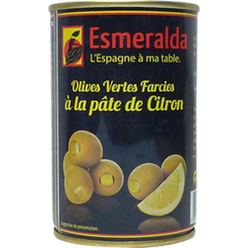 Olives vertes farcies à la pâte de citron, Esmeralda (120 g)