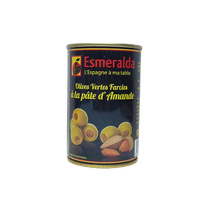 Olives farcies à la pâte d'amandes, Esmeralda (120 g)