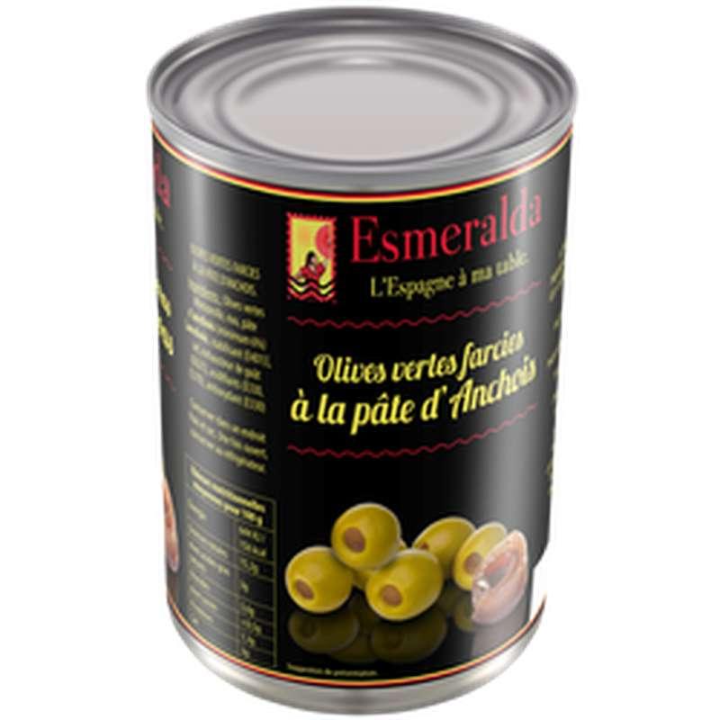 Olives farcies aux anchois, Esmeralda (130 g)