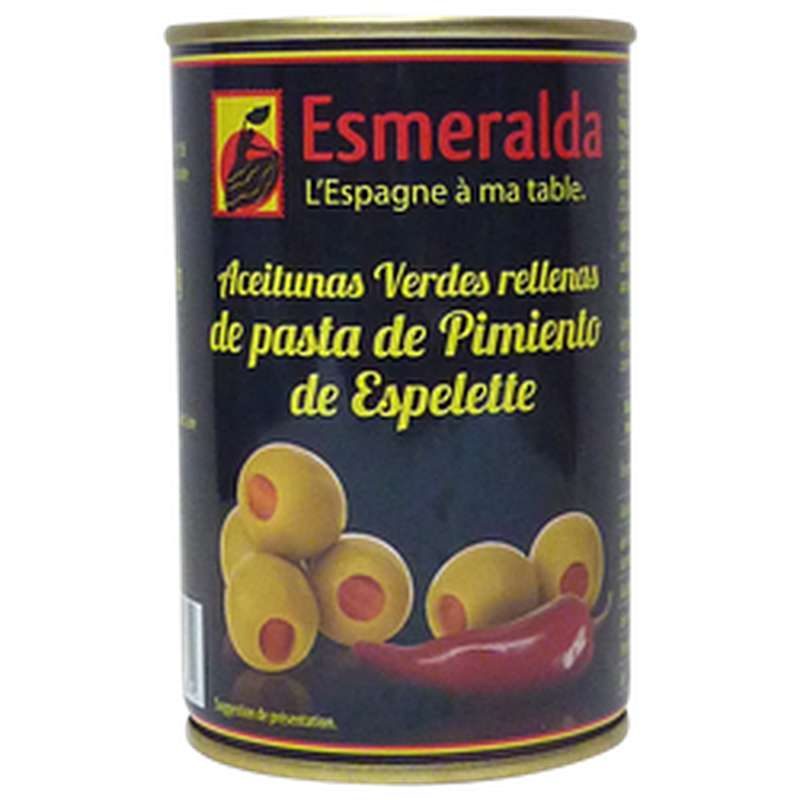 Olives vertes au piment d'Espelette, Esmeralda (120 g)