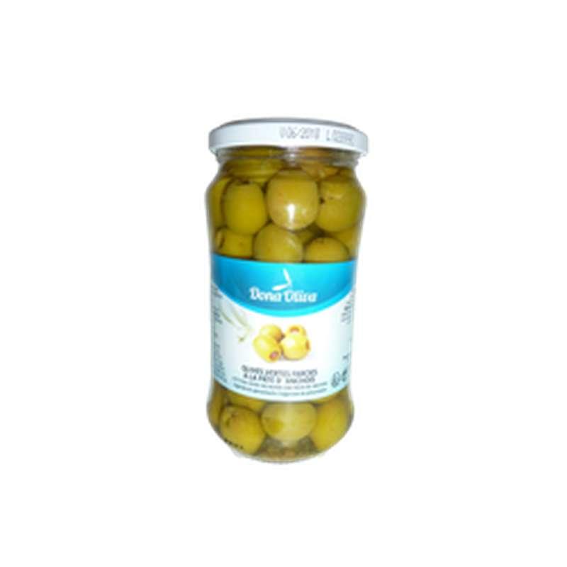 Olives vertes farcies à la pâte d'anchois, Dona Olivia (220 g)