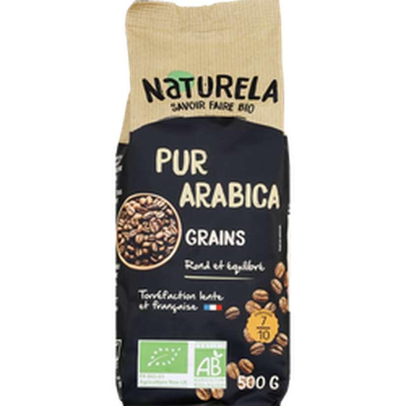 Café en grains Pur Arabica BIO, Naturela (500 g)