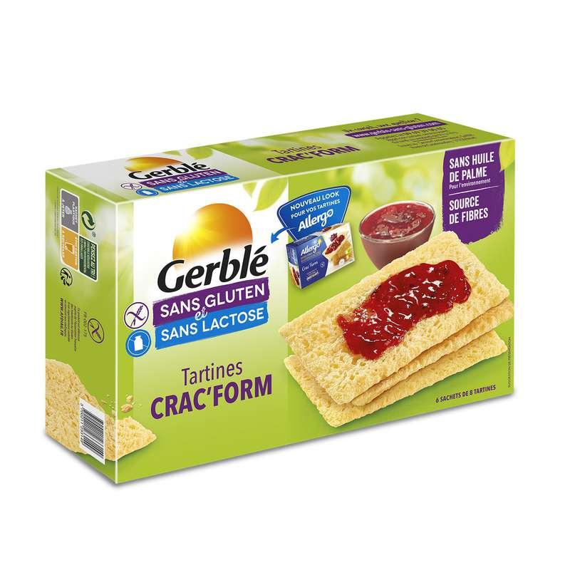 Biscottes sans gluten & lactose, Gerblé (250 g)